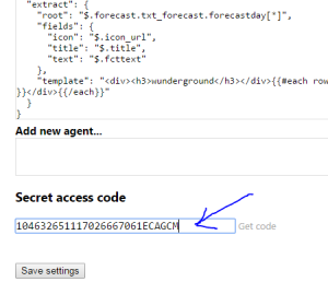 Paste your code here and click Save